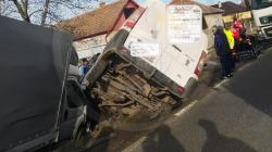 Maramureșean implicat într-un spectaculos accident de pe DN 19