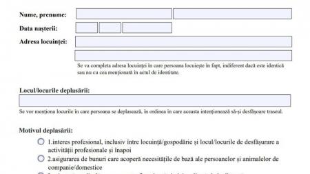 Documente: Au fost actualizate modelele declarației pe proprie răspundere și de adeverință de la angajator; Care este procedura completă